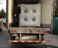30 SlimLine water tanks for heat recovery project at Nanaimo Hospital.  Nanaimo, BC.