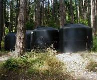 Rain water catchment tank farm San Juan Is. WA.