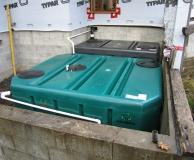 Box Tanks for custom designed septic treatment system.