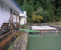 Custom designed septic treatment system for marine  application.  Prince Rupert, BC.