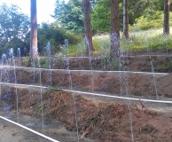 Gravity powered pressure dosing of septic field.  Nanaimo, BC.