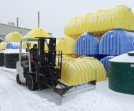 Plowing snow at premier plastics Feb 2018